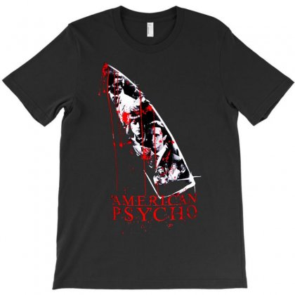American Psycho Movie Poster Bale Thriller Horror T-shirt Designed By Ronandi