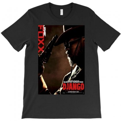 Django Unchained Jamie Foxx Movie Poster T-shirt Designed By Ronandi