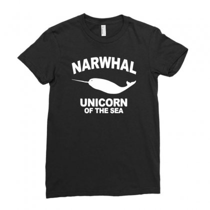 Narwhal Unicorn Of The Sea Ladies Fitted T-shirt Designed By Desi