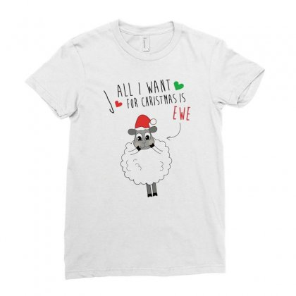 All I Want For Christmas Ladies Fitted T-shirt Designed By Desi