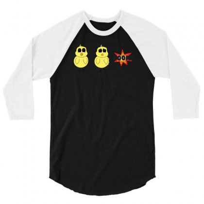Chick Chick Boom 3/4 Sleeve Shirt Designed By Desi