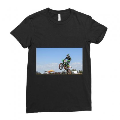 Bike Racing Ladies Fitted T-shirt Designed By Bijender