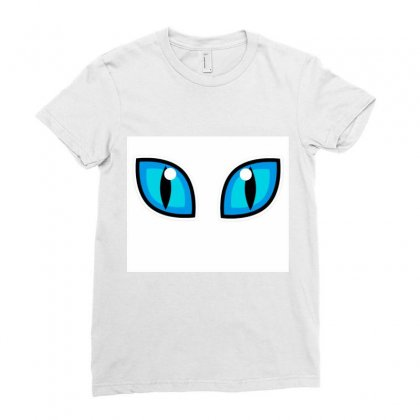 Cat Eye Ladies Fitted T-shirt Designed By Parul_dogra
