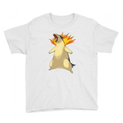 Cyndaquil Youth Tee Designed By Acoy