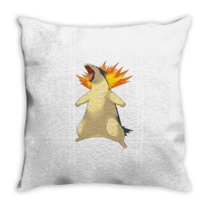 Cyndaquil Throw Pillow Designed By Acoy