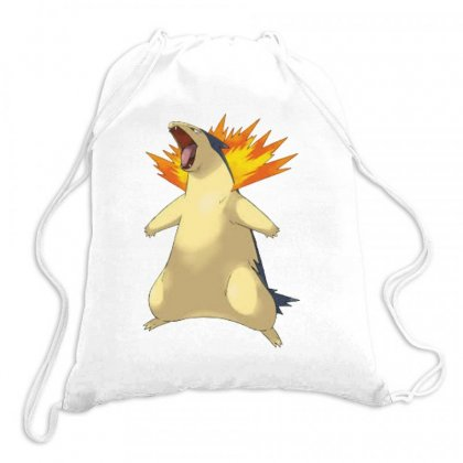 Cyndaquil Drawstring Bags Designed By Acoy