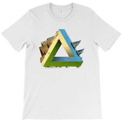 Impossible Earth (penrose Triangle) T-shirt Designed By Acoy