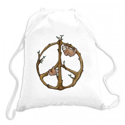 Sloths Peace Sloths Drawstring Bags Designed By Hoainv