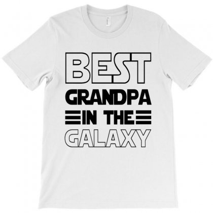 Best Grandpa In The Galaxy   Black Style T-shirt Designed By Dorothy Tees