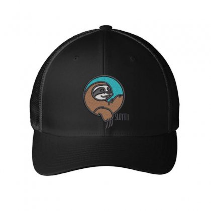 Sloth Embroidered Mesh Cap Designed By Madhatter