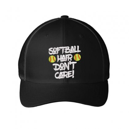 Softball Embroidered Mesh Cap Designed By Madhatter