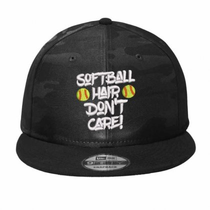 Softball Camo Snapback Designed By Madhatter