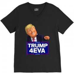 trump 4eva 2020 election politics V-Neck Tee | Artistshot