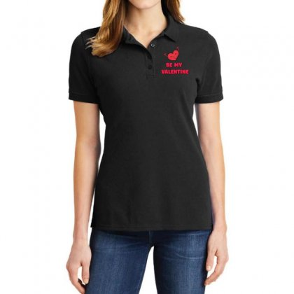Be My Valentine Ladies Polo Shirt Designed By Dspn