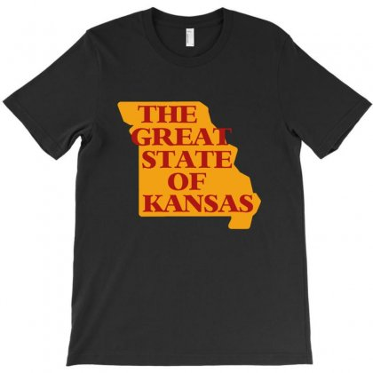 The Great State Of Kansas T-shirt Designed By Helloshop