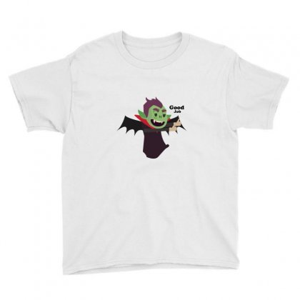 Vampire Flat Design Version For T-shirts, Mascots, Etc. Youth Tee Designed By Backtostart