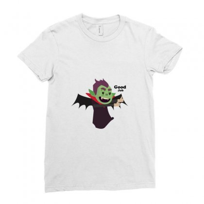 Vampire Flat Design Version For T-shirts, Mascots, Etc. Ladies Fitted T-shirt Designed By Backtostart