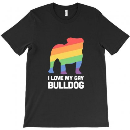 Bulldog Funny Gay Dog Lgbt Pride T-shirt Designed By Sr88