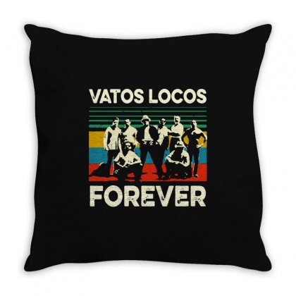Vatos Locos Forever Vintage Throw Pillow Designed By Smile 4ever