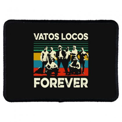 Vatos Locos Forever Vintage Rectangle Patch Designed By Smile 4ever