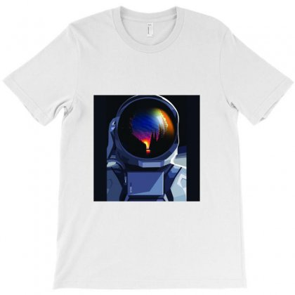 View Of Earth From Moon T-shirt Designed By Aqsa Zulfiqar