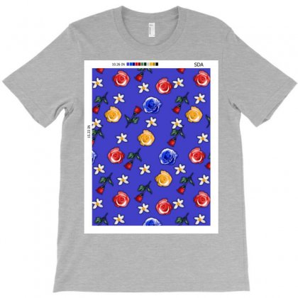 Floral Repeat Pattern T-shirt Designed By Sda