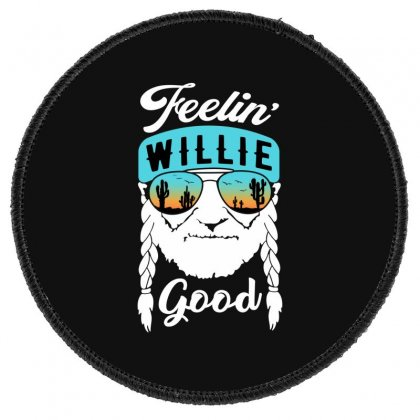 Feeling Good Willie Round Patch