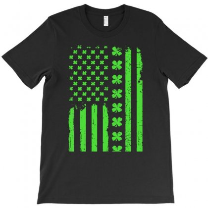 American Flag St. Patrick's Day Gift T-shirt Designed By Hoainv