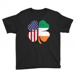 ireland flag and american flag st. patrick's day gift Youth Tee | Artistshot