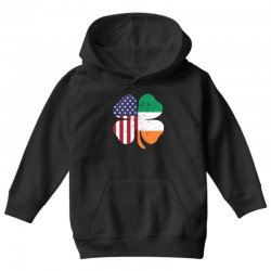 ireland flag and american flag st. patrick's day gift Youth Hoodie | Artistshot
