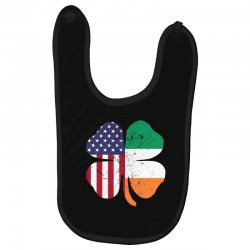 ireland flag and american flag st. patrick's day gift Baby Bibs | Artistshot