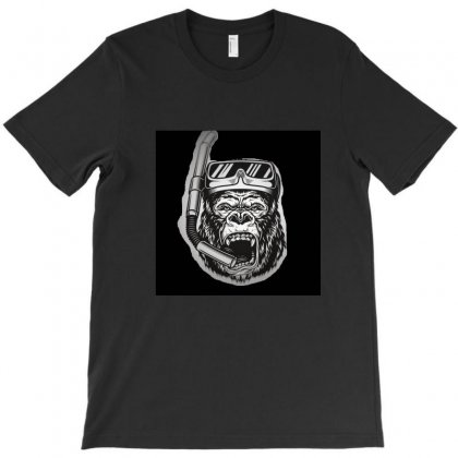Angry Gorilla In Monochrome Style Vector 21580943 T-shirt Designed By Murat3458