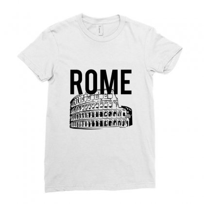 Rome, Roman Empire Ladies Fitted T-shirt Designed By Cypryanus