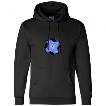 Square Spiral Fractal Champion Hoodie Designed By Zykkwolf