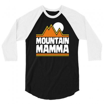 Mountain Mamma 3/4 Sleeve Shirt Designed By Dinugraha