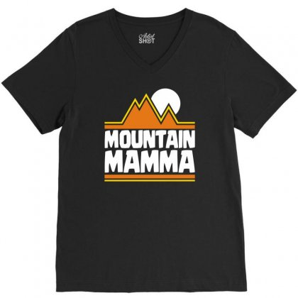Mountain Mamma V-neck Tee Designed By Dinugraha