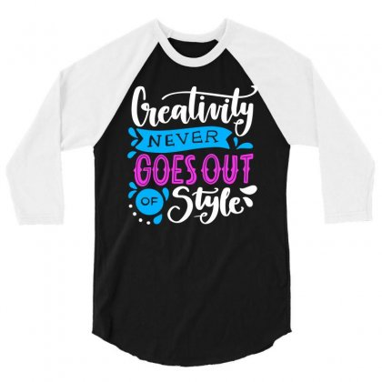 Creativity Style 3/4 Sleeve Shirt Designed By Designisfun