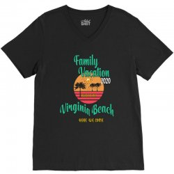 Family Vacation 2020 Read Or Not Virginia Beach Here We Come V-Neck Tee | Artistshot