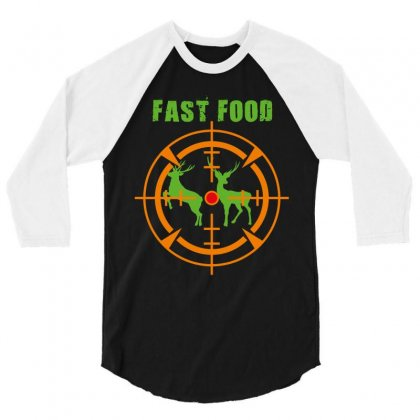 Fast Food 3/4 Sleeve Shirt Designed By Wizarts