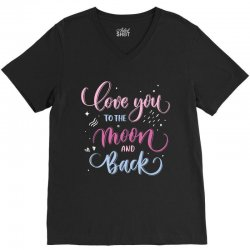 love to you the moon and back V-Neck Tee | Artistshot