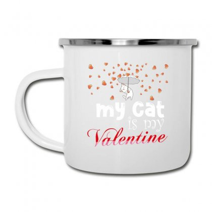 My Cat Is My Valentine Camper Cup Designed By Wizarts