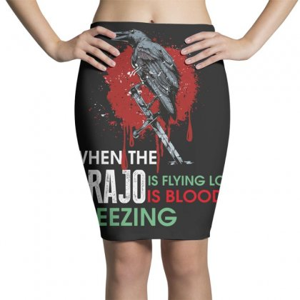 When The Grajo Is Flying Low Is Bloody Freezing Pencil Skirts Designed By Wizarts