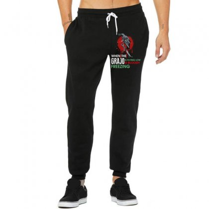 When The Grajo Is Flying Low Is Bloody Freezing Unisex Jogger Designed By Wizarts