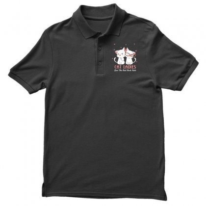 Cat Ladies Men's Polo Shirt Designed By Wizarts