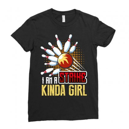 I Am A Strike Kinda Girl Ladies Fitted T-shirt Designed By Wizarts