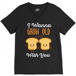 i wanna grow old with you V-Neck Tee | Artistshot