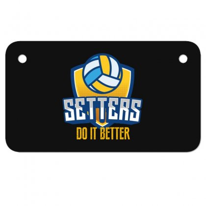 Setters Do It Better Motorcycle License Plate Designed By Wizarts