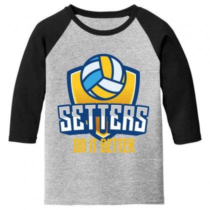 Setters Do It Better Youth 3/4 Sleeve Designed By Wizarts