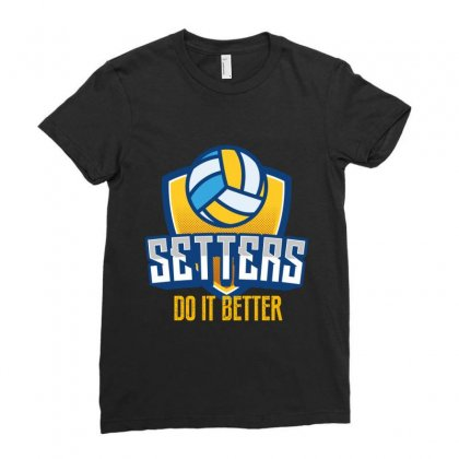 Setters Do It Better Ladies Fitted T-shirt Designed By Wizarts