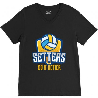 Setters Do It Better V-neck Tee Designed By Wizarts
